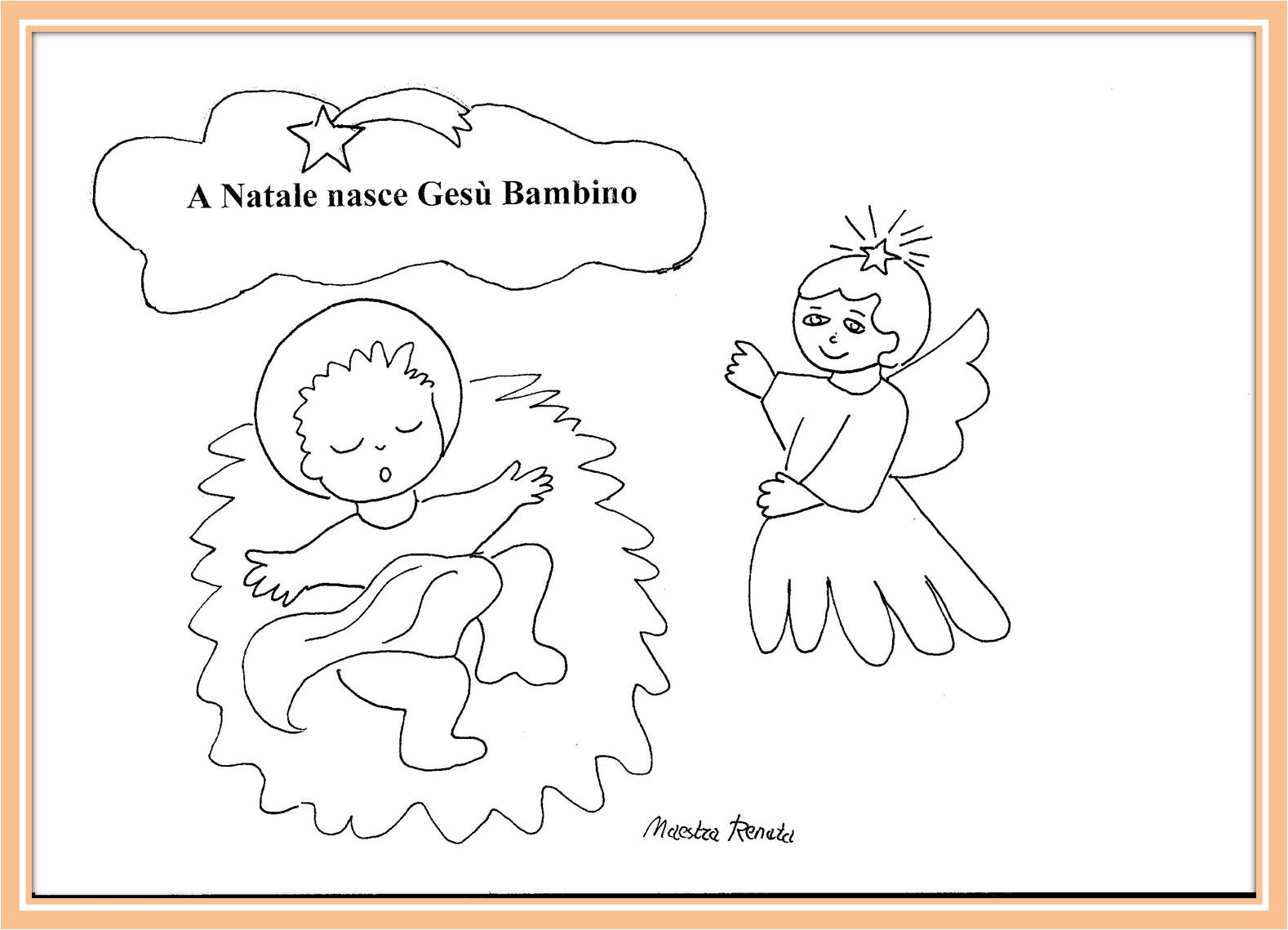L 39 angelo dei bambini maestrarenata for Angeli per bambini da colorare