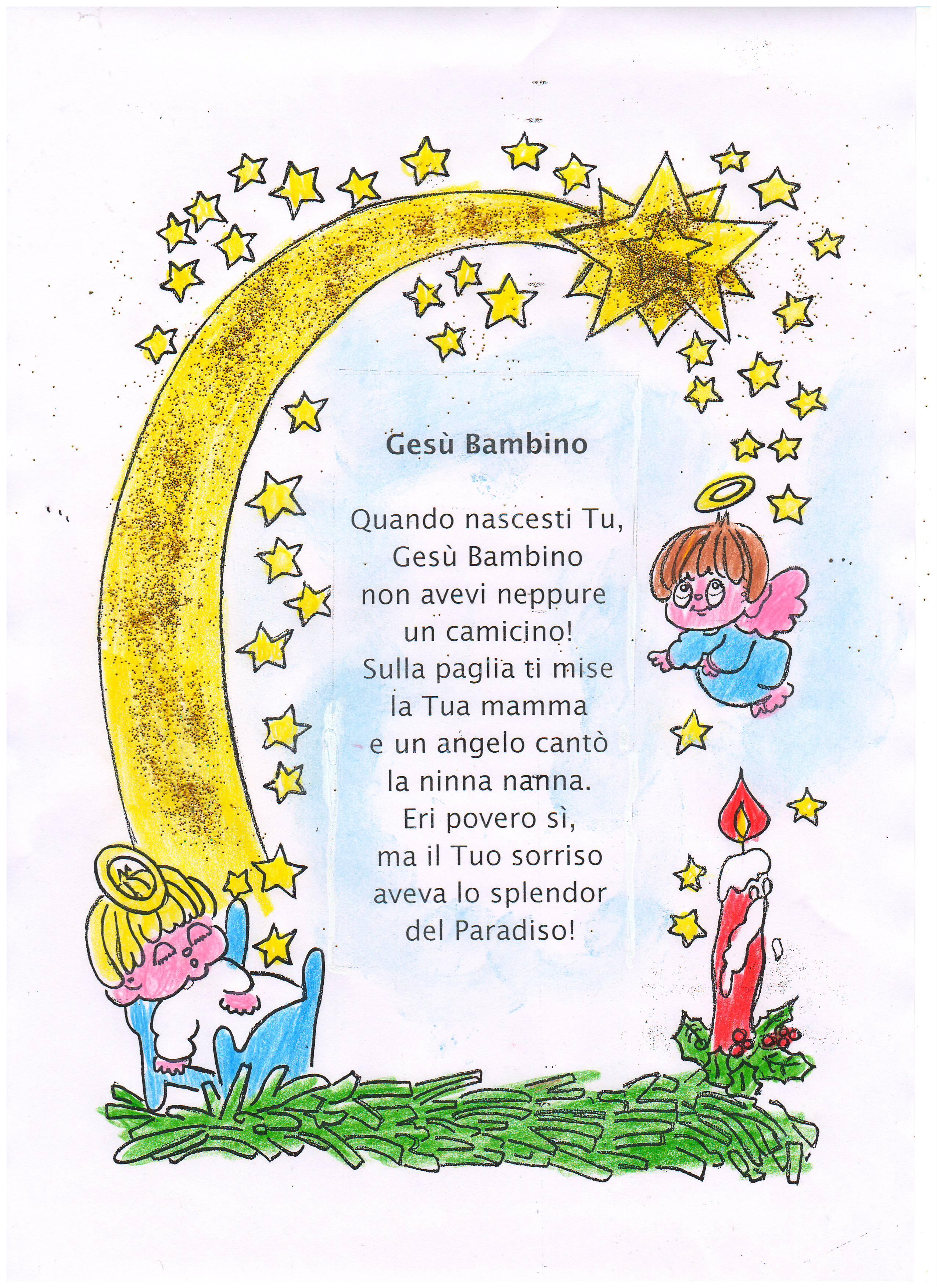 Poesie Di Natale Infanzia.Letterine E Poesie Per La Festa Di Natale Maestrarenata