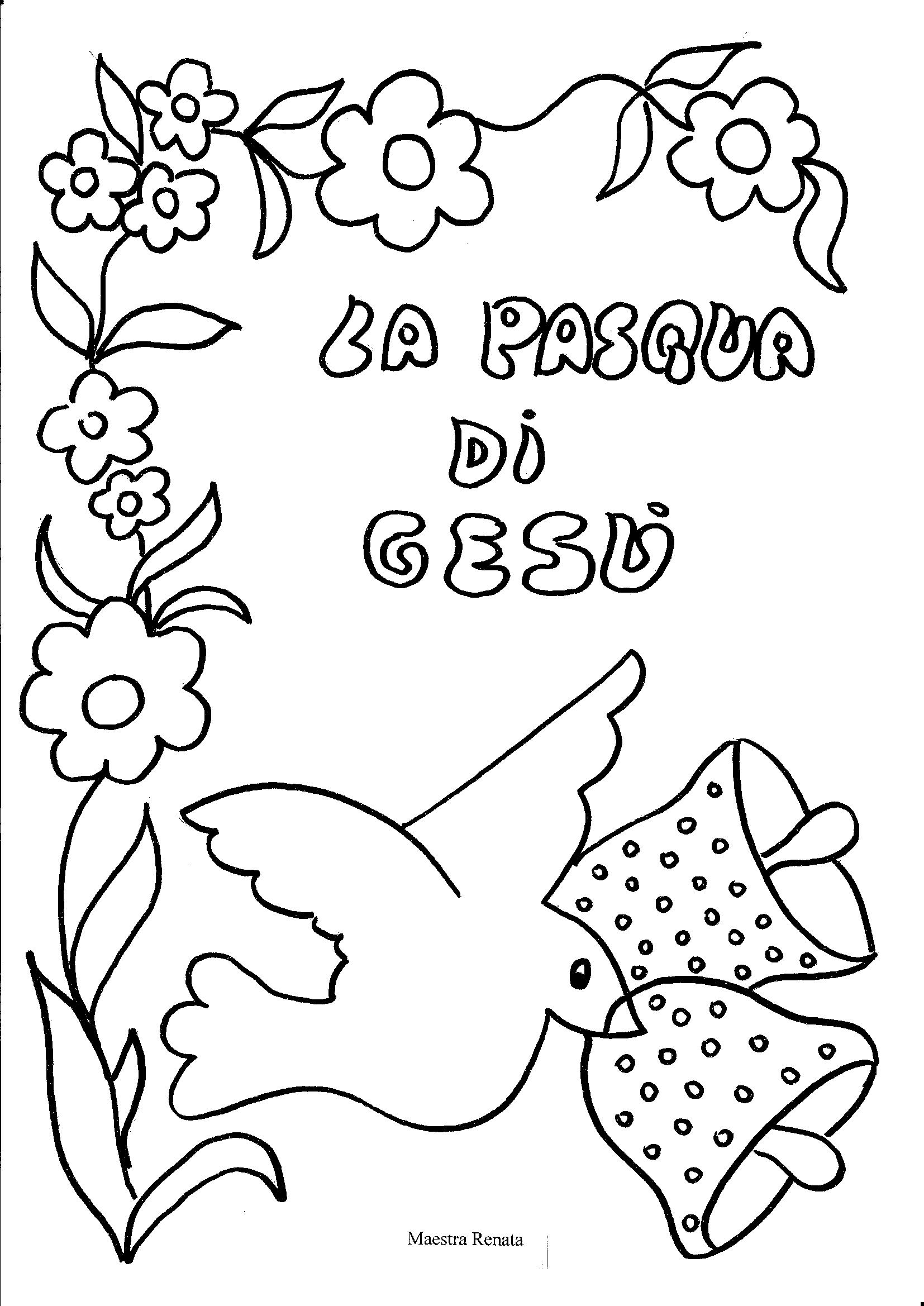 Disegni di pasqua maestrarenata for Disegni da colorare di pasqua