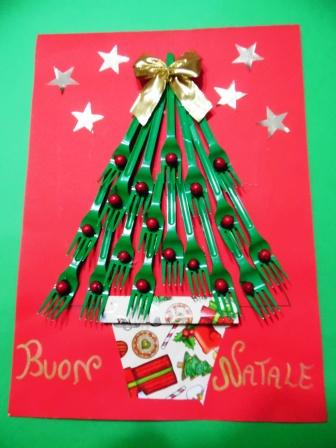 Biglietti Di Natale Con Carta Riciclata.Albero Di Buon Natale Maestrarenata