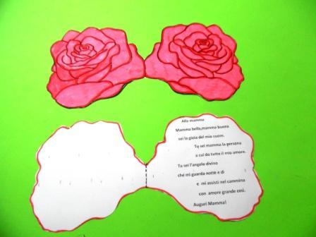 Biglietto di auguri con le rose per la festa della mamma for Colorare le rose