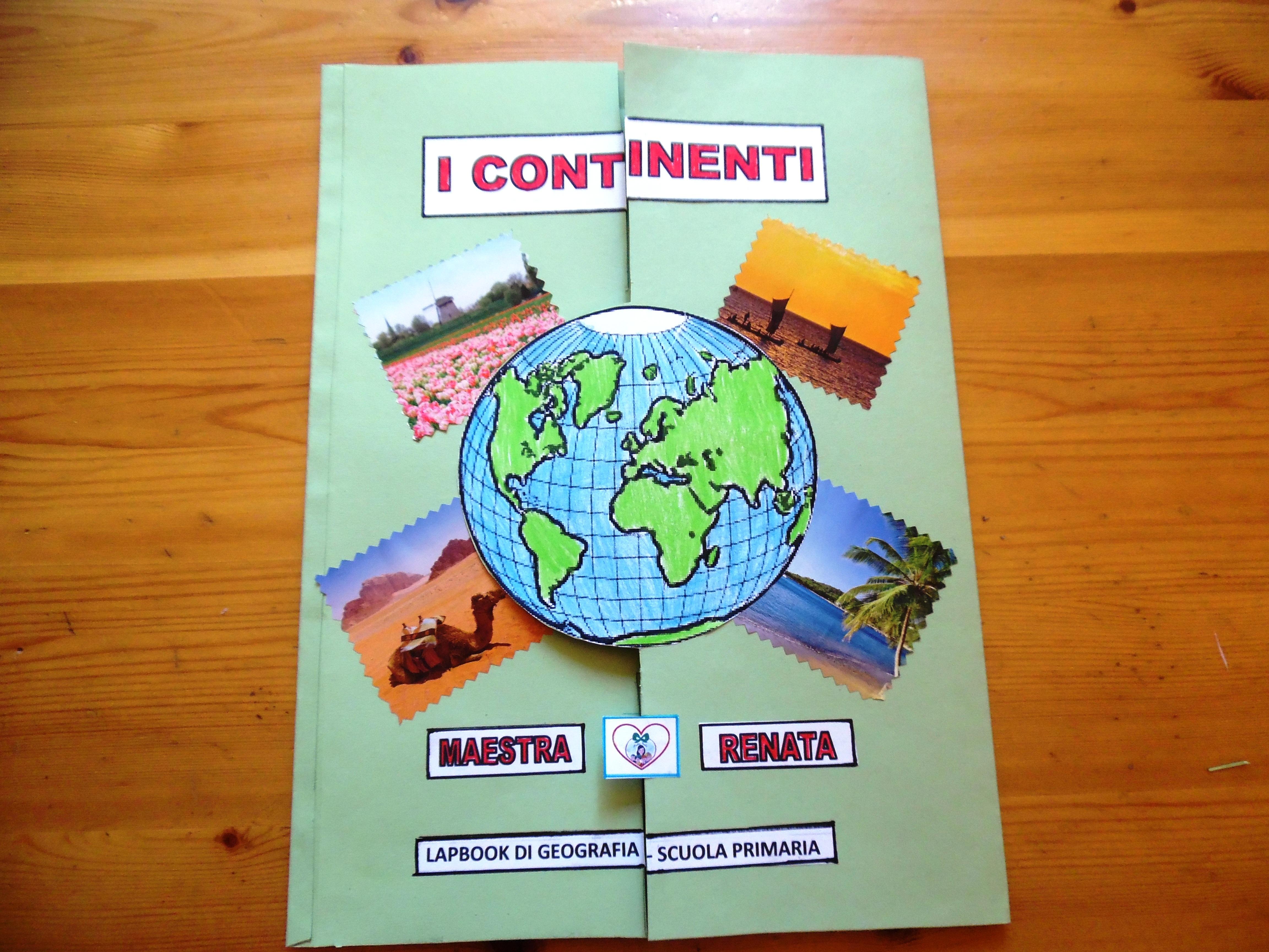 Lapbook Sui Continenti Maestrarenata