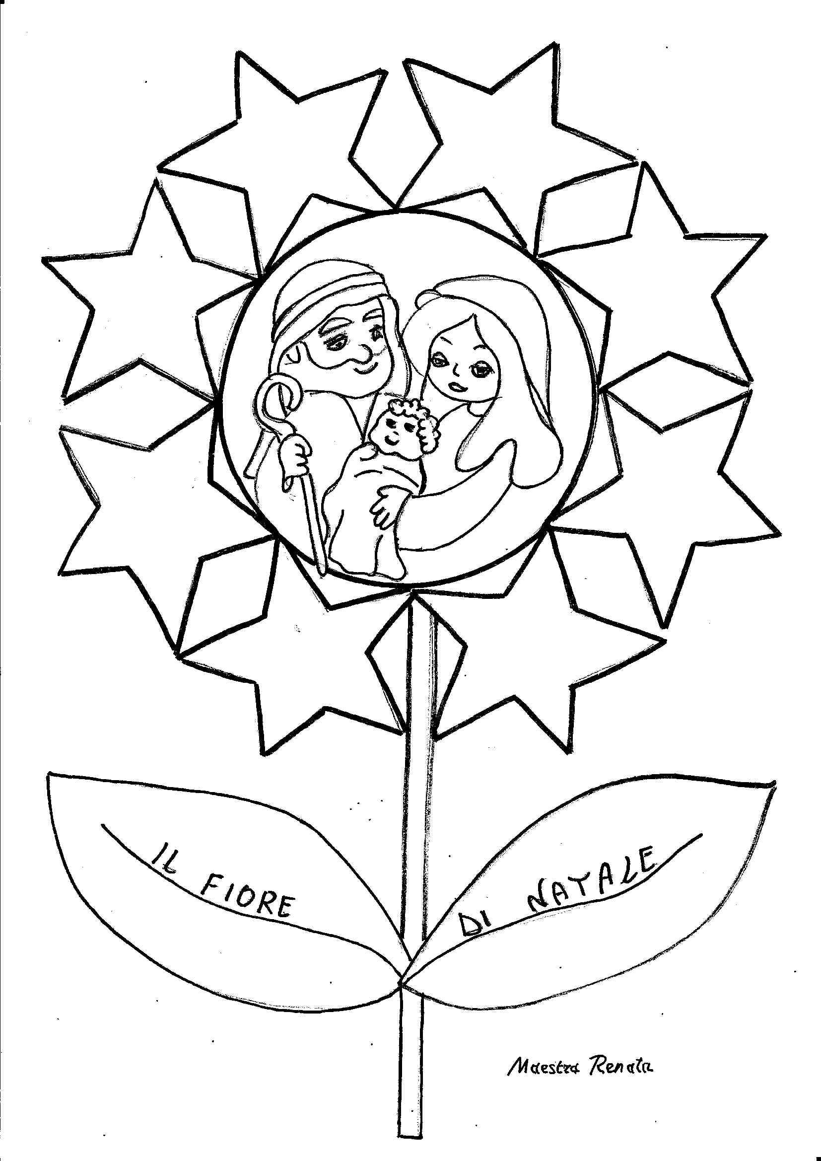La religione in un fiore maestrarenata for Lavoretti natale scuola infanzia maestra mary