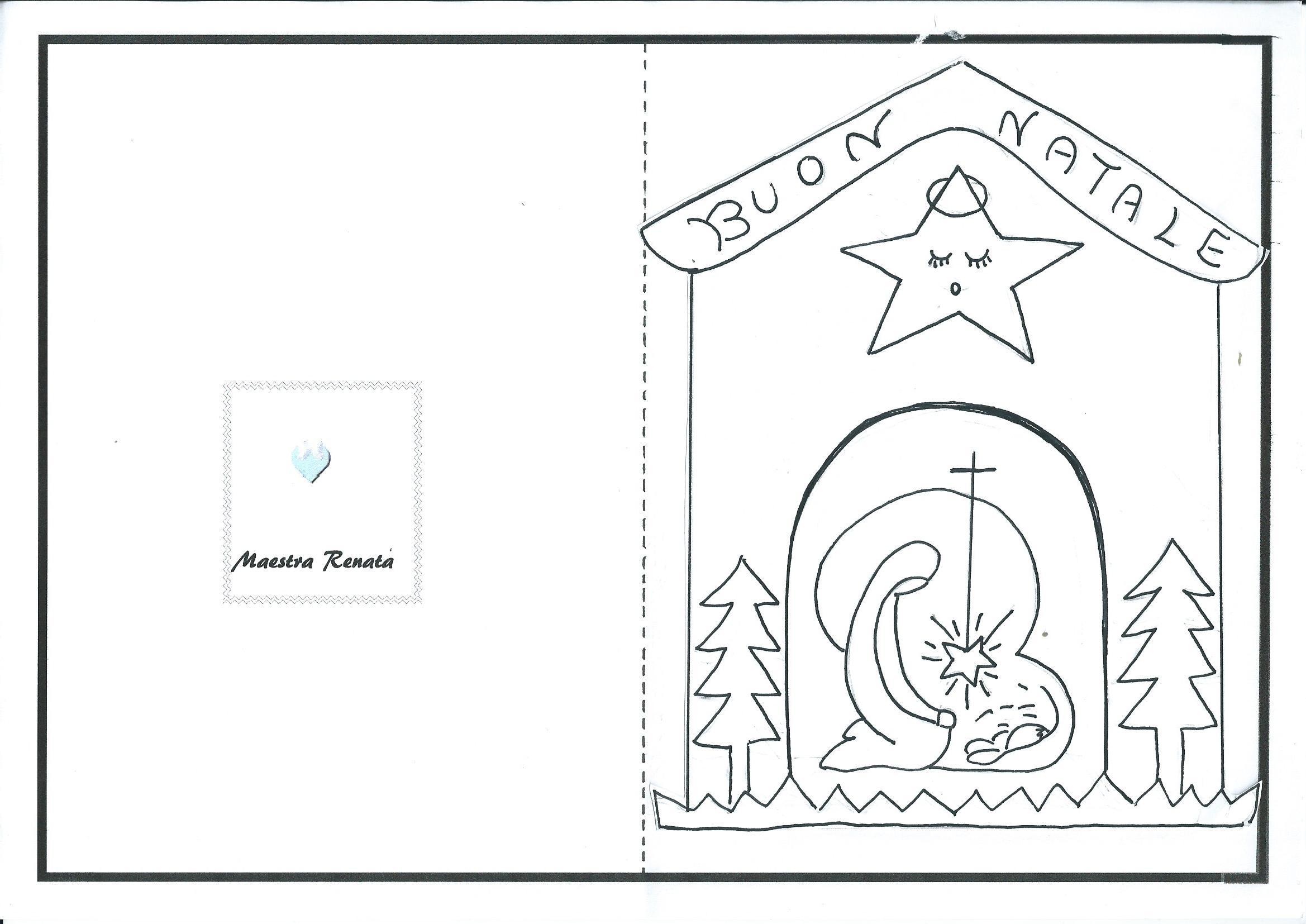 Biglietti Di Natale Scuola Infanzia Da Colorare.Biglietti Di Auguri Per Natale Maestrarenata