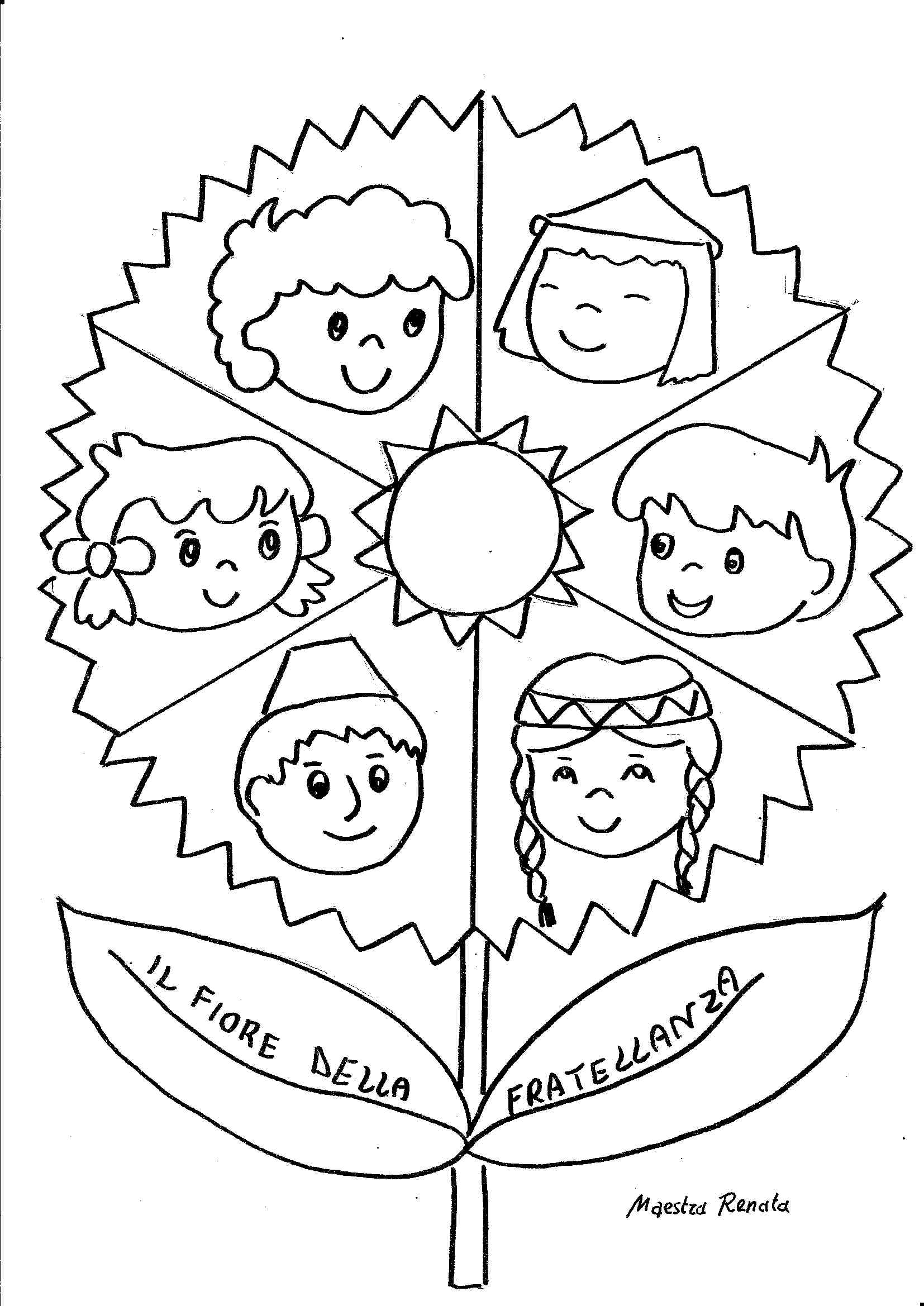 La religione in un fiore maestrarenata for Maestra gemma diritti dei bambini
